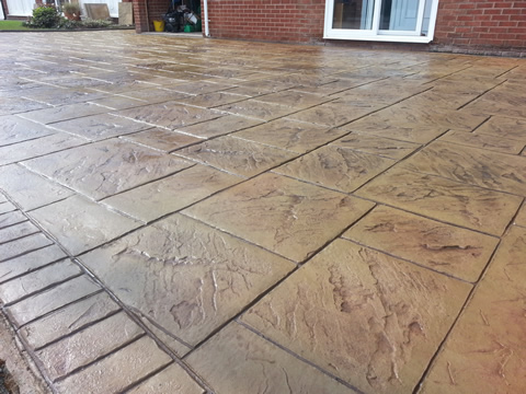 imprinted concrete driveway chester grand ashlar print