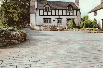 imprinted concrete driveway north wales old english cobble