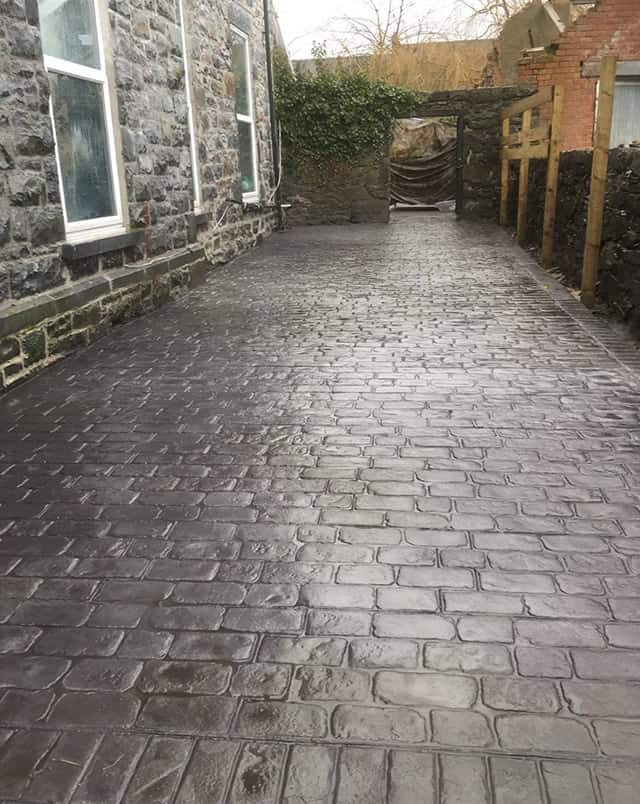 Cheshire Cobble Slate Blue Platinum Silve Before After