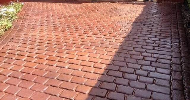 Cheshire Cobble Terracotta Driveway