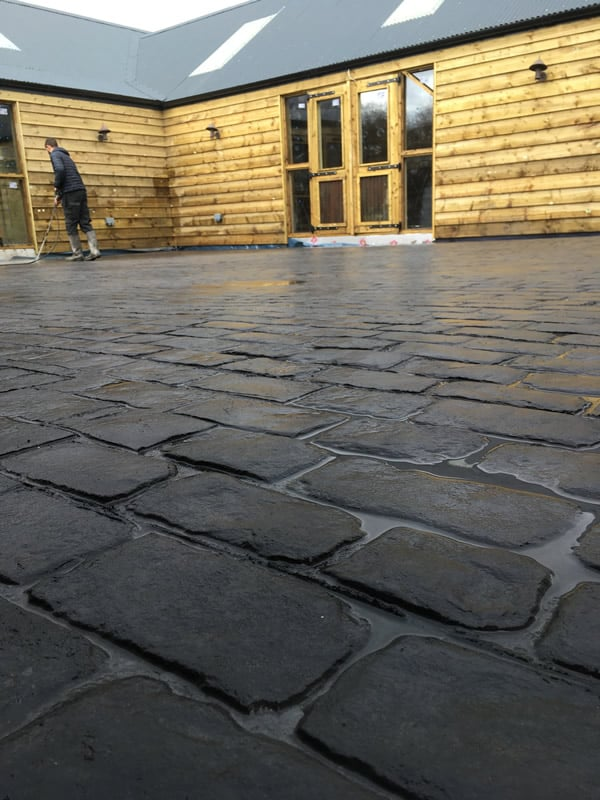 Cheshire Cobble Imprinted Concrete Laid